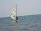 Windsurfer up to speed on the wind speed