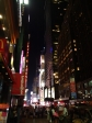 Evening streets of Manhattan